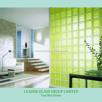 2014 New Hot Selling Lemon Colored Glass Block For Decorative