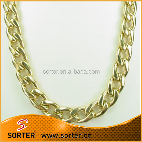 2016 new hot handbag decorative metal chains