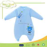 BSB367 low price cotton baby splicing sleep sack, newborn baby sleep sack