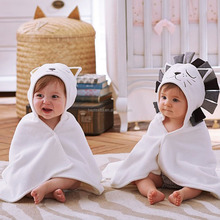 Custom bathrobe 100%cotton kids animal style baby hooded bath towel
