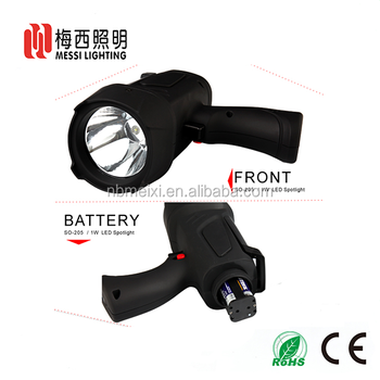 China supplier ultra bright 3W 4xAA battery rechargeable handheld LED spotlight