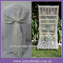 C122E jenny bridal fancy lace chair wrap , lace chair sash, lace chair covers wedding