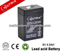 6V 4AH rechargeable lantern battery