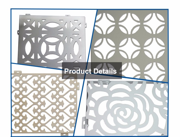Commercial Outdoor Heat Fire Water Resistant Art Deco Metal Wall Panels For Kitchen