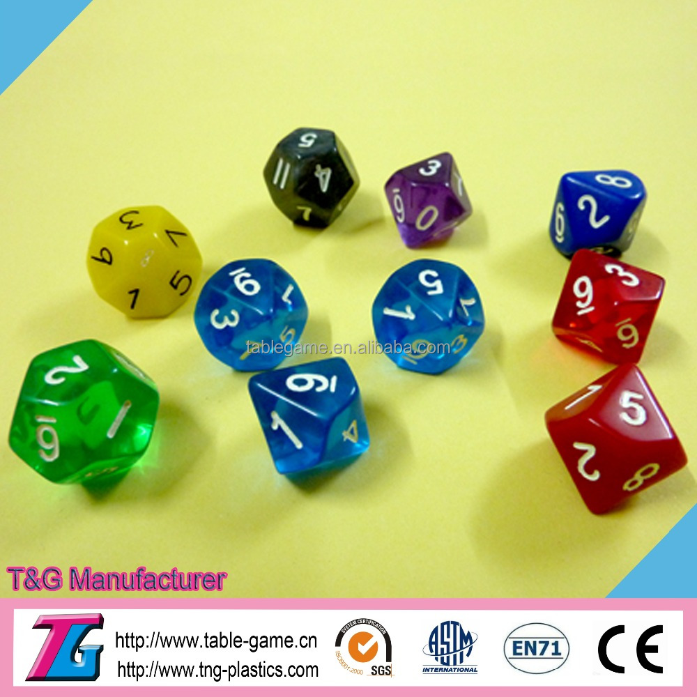 High quality custom polyhedral dice