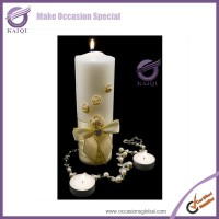 K5812 High quality wholesle fancy decorative white candle