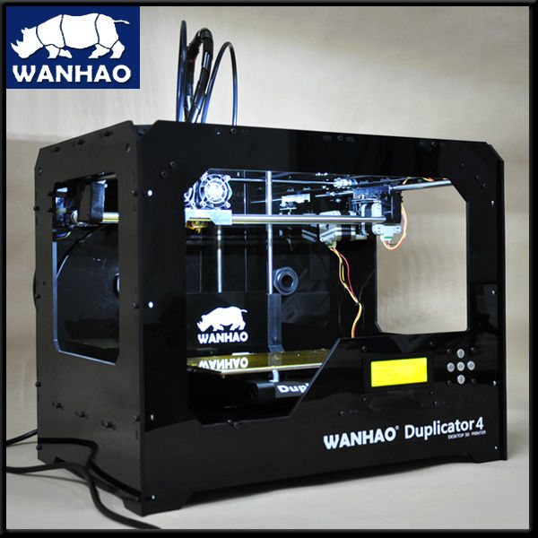 WANHAO desktop household type FDM rapid prototyping 3D printer with LED display for personal hobbies printing machine