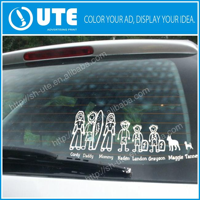 dye cut adhesive decals/opque window cling die cut car sticker
