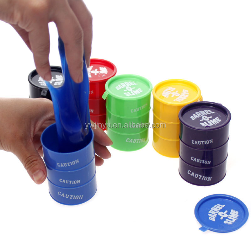 Novelty toy prank oil drums trick colorful paint barrel slime putty play joke toys BT001