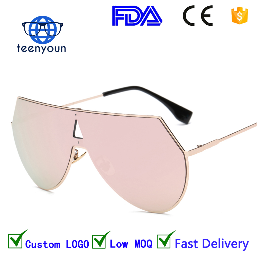 1009 big goggle sunglasses one piece women designer metal frame cool oversized mens sunglasses eyewear mirror lenses