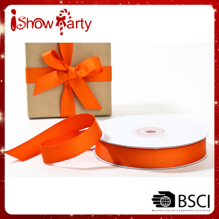 Top Selling Colorful Wholesale Cheap Customized Orange Ribbon