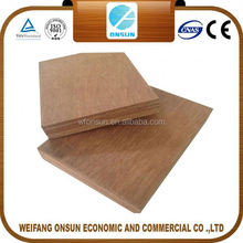 best selling high quality 5.2mm red meranti plywood from China factory