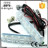 China supplier daylight 6 LED 6W Universal Car Led Light Daytime Running Auto Lamp DRL Auxiliary Light,flexible led drl