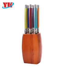 Hot Sell 6pcs Laguiole Knife Set with Plastic Handle