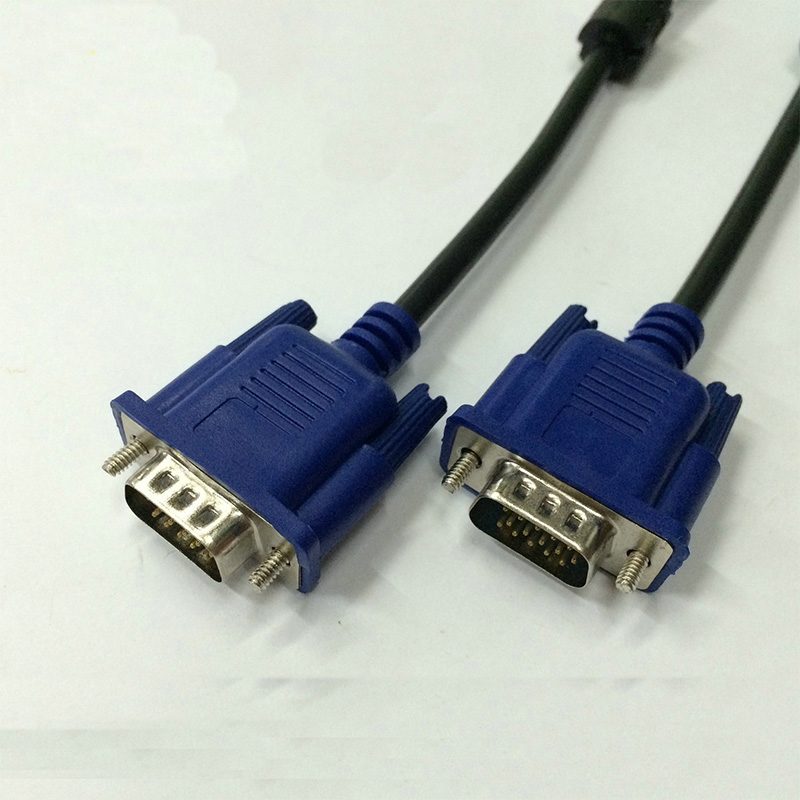 1.5m 5/10 FT Blue 15PIN VGA/SVGA D-Sub Male to Male Cable Monitor M/M New For PC TV