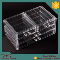 Wholesale Clear Acrylic Makeup Cosmetic Storage Organizer Box With Drawers