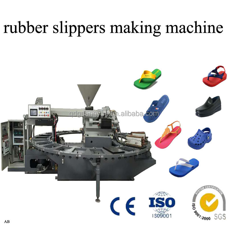 Rubber plastic slippers making machine for sale