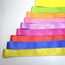 shipping free sparkle and soft solid glitter grosgrain ribbon many size for choose , very soft to make bow