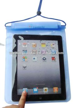 Facroty water resist case for ipad waterproof bag with earphone