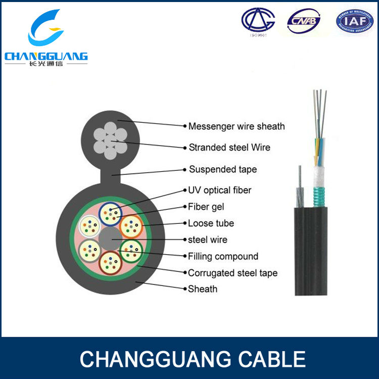 24core ITU G652D Fig 8 Network/outdoor aerial Fiber optic cable GYXTC8S