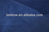 Wholesale 100 cotton 12W blue corduroy fabric for jacket and pants