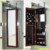 America hot selling bedroom furniture mirrored jewelry display cabinet