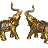 Animal Polyresin Figurines Of Double Elephant