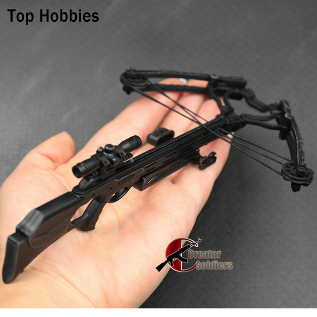 ZY 1/6 Scale Crossbow set With 8pcs Arrows For Daryl Walking Dead Costume. 12' Sideshow Dragon Action Figure Man