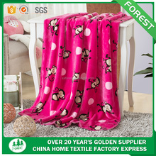 alibaba china suppliers Hot sales 100% polyester Printed mink Fleece Baby Blanket