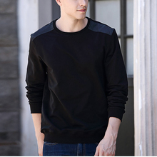 High quailty black 100% cotton plain hoodie new tren long sleeve pullover hoodies