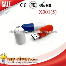 Popular Customized Design Promotional pill usb flash drive with custom logo
