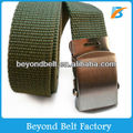Solid Color Polyester Webbing Belt with Iron Buckle for Boys