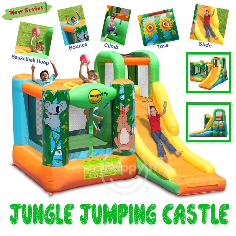 Happy Hop Inflatable Bouncer-9171N Jungle Jumping Castle,indoor inflatable bouncers for kids,animal world