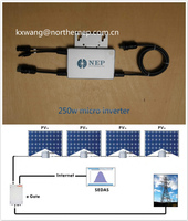 Solar micro inverter with 250W output power, easy to install and operate