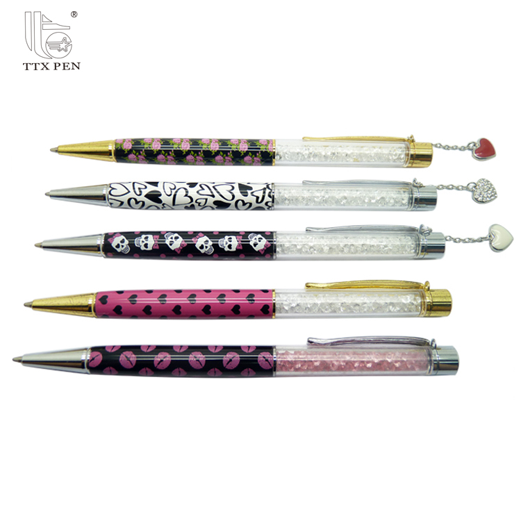 New Elegant Crystal Office Metal Ball Pen&Ipad Pen With the charm