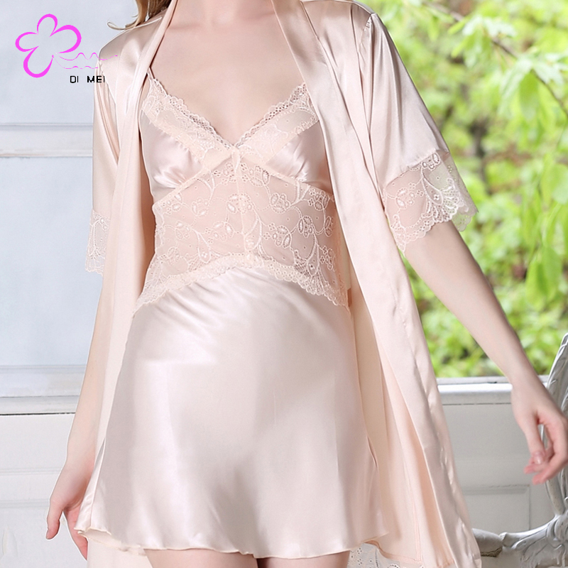 Comfort satin silk pajamas young girls sexy