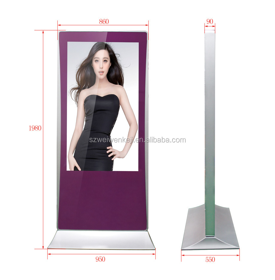 Innovation 55inch free standing lcd network wifi unique advertising products