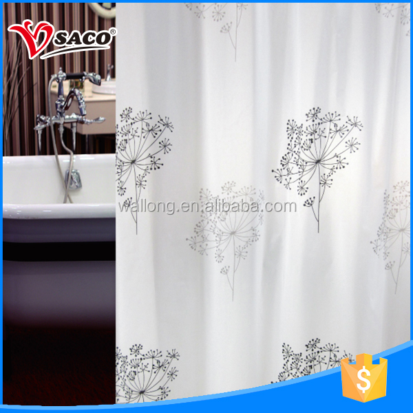 PVC not moldy hotel style shower curtain designs 2013 with low price
