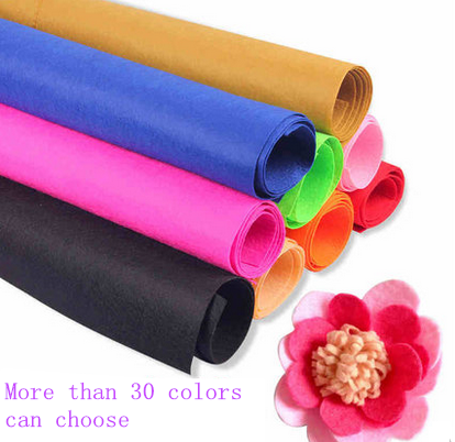 More Color Choose Embroidery Applique Needle Punch Felt Nonwoven Fabric In Rolls Wholesale