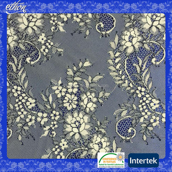China supplier high quality two-tone color French design nylon polyester African tulle lace fabric