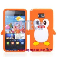 TPU Gel cartoon penguin case for galaxy s2