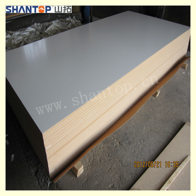 Shantop Plain color wood grain melamine faced mdf board
