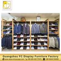 high end custom retail clothing display cabinet store furniture cloth shop counter table design