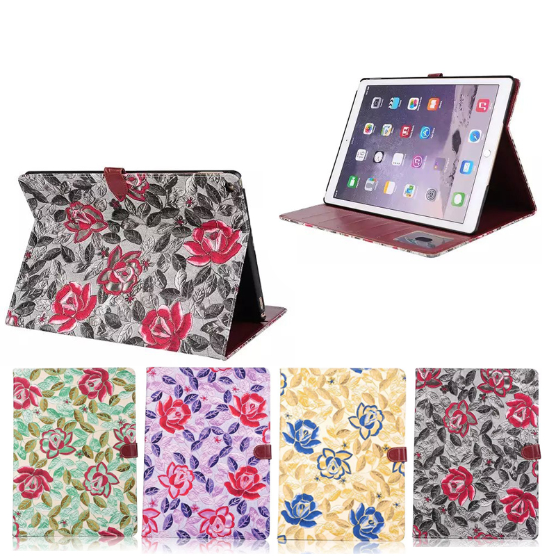 Flower Texture Flip Stand Case for iPad Pro 12.9 inch, for iPad Pro Leather Case