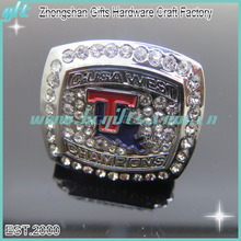 Hot selling USA popular style rhinestone metal sports championship ring