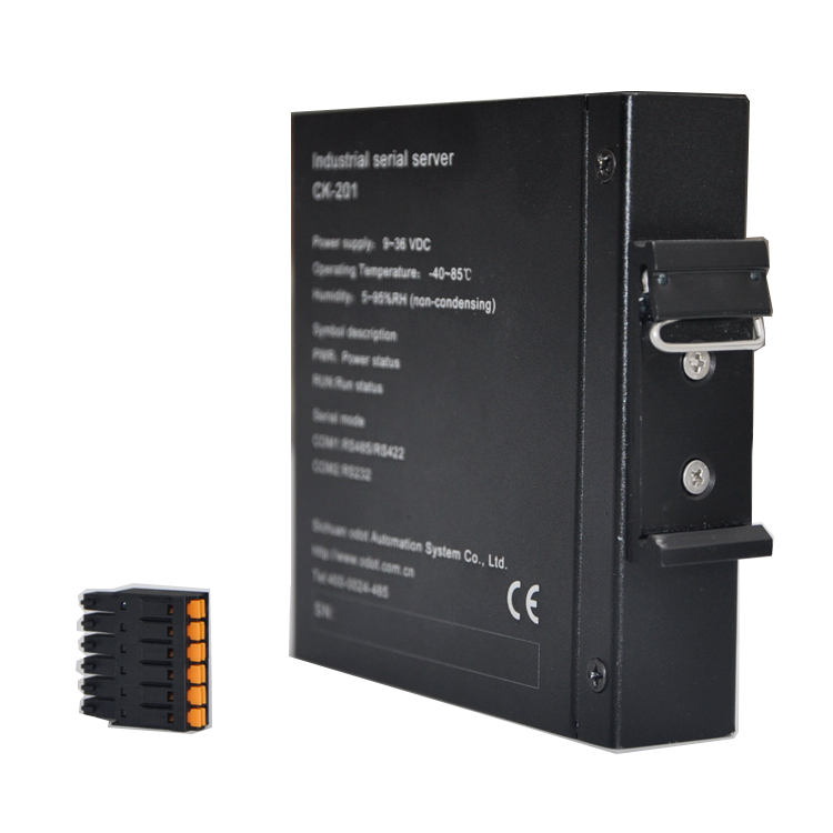 Military Quality Optional Voltage DIN Rail Mounting Installation Serial Devices to Ethernet Converter