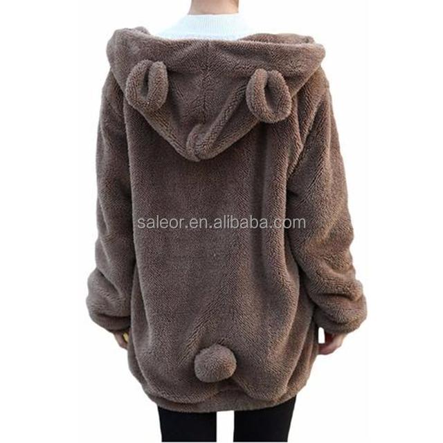 Warm Outerwear Cute Bear Hoodie Casual Tops Bear Ear Coat
