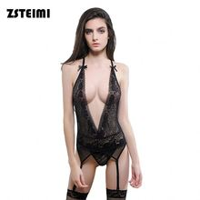 Wholesale Hot Style Private Label V Neck Sexy Lingerie Mature Woman