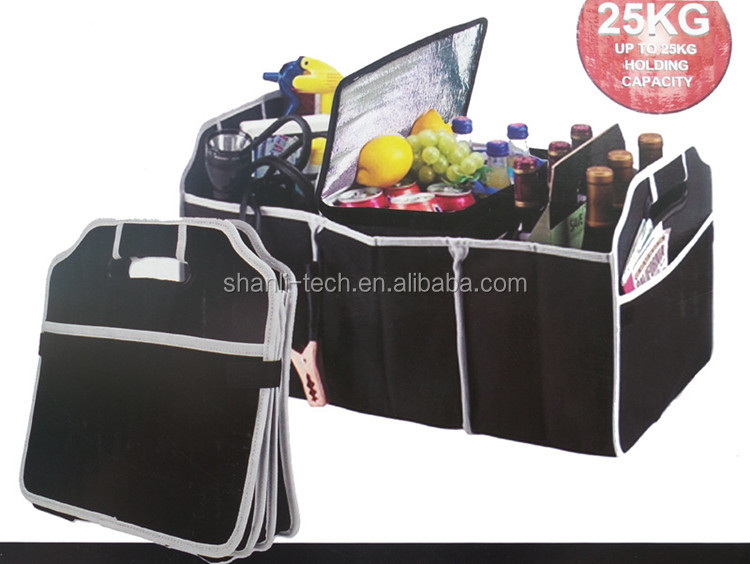 Foldable car boot organizer, car trunk organizer storage bag