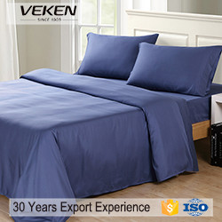 veken products 300tc 60sx40s solid color bamboo twin bedding sets